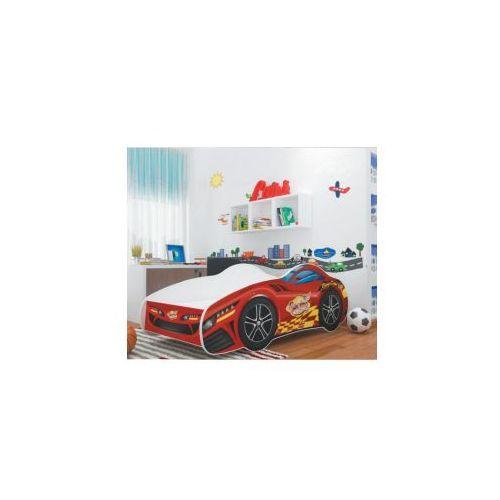 Łóżko cars dziecięce: konstrukcja - płyta mdf, wzór cars - wzór 10 marki Ajk meble