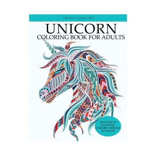 UNICORN COLORING BOOK: ADULT COLORING BO (9781947243378)