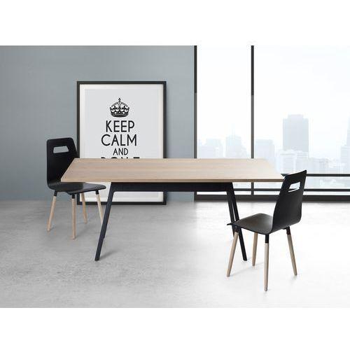 Stół czarny - 180 cm - kuchenny - do jadalni - FLOW, Beliani