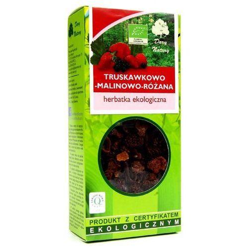 Herbatka Truskawkowo - Malinowo - Różana BIO 100 g Herbata Dary Natury (5902741005793)