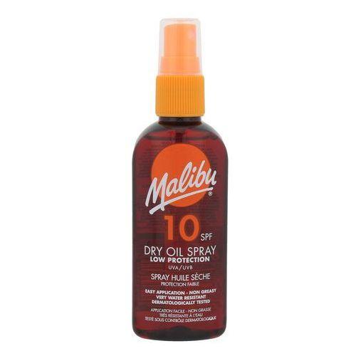 dry oil spray spf10 preparat do opalania ciała 100 ml dla kobiet marki Malibu