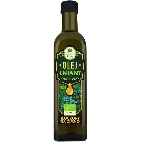 Olej lniany virgin bio 100 ml - dary natury marki Dary natury - inne bio