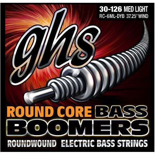 Ghs round core bass boomers struny do gitary basowej, 6-str. medium light,.030-.126