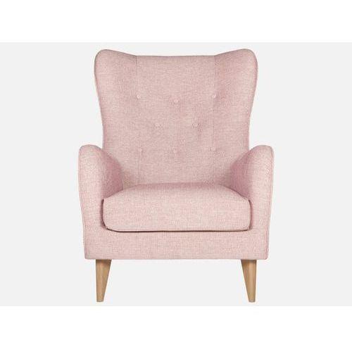 Fotel Pola DIVINE 61pink tkanina różowa nogi drewno dąb  E1765-0000-2S-DIVINE61-91o, marki Sits do zakupu w sfmeble.pl