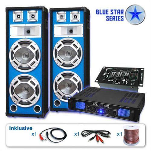 """Electronic-Star Zestaw PA z serii Blue Star""""Basskern USB"""" 2800 W"""