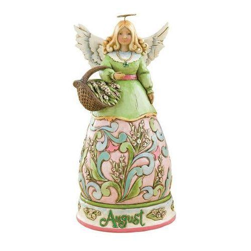 Anioł sierpień heartwood creek monthly angel figurine august 4012557 , pamiątka narodzin, chrztu figurka dewocjonalia marki Jim shore