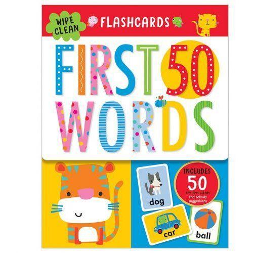 Flashcards 50 First Words ze zmywalnym flamastrem (9781786929532)