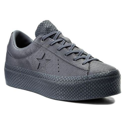 Sneakersy - one star platform ox 559901c light carbon/light carbon, Converse, 36-40