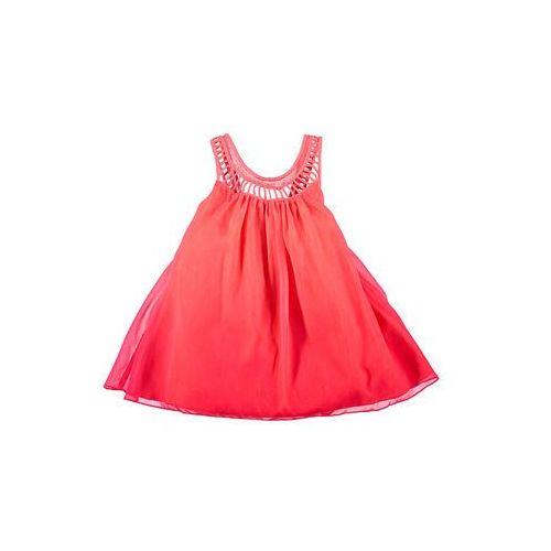 Sukienka w kolorze koralowym | rozmiar 98 (sukienka dziecięca)