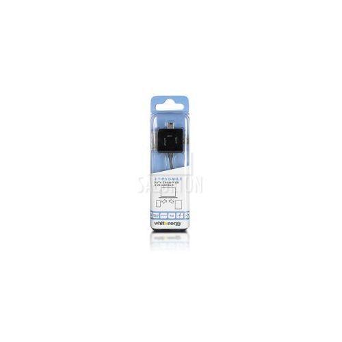 Kabel do przesyłu danych, wtyczka USB 2.0 na micro USB /mini USB /iPhone4, czarny (kabel transmisyjny do telefonu)