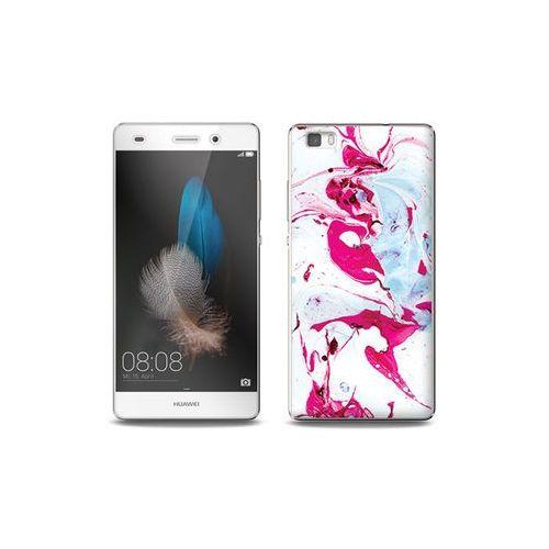 Huawei P8 Lite - etui na telefon Full Body Slim Fantastic - różowy marmur, ETHW190FBSFFC030000