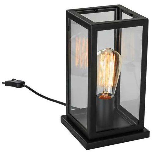 Industrialna lampa stołowa laverno mt-202621-1-b biurkowa lampka stojąca klatka loft czarna przezroczysta marki Italux