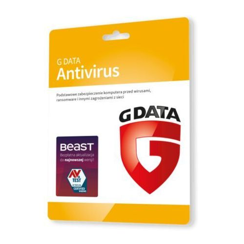G Data AntiVirus 3 PC - Nowa 1 rok, C1001ESD12003