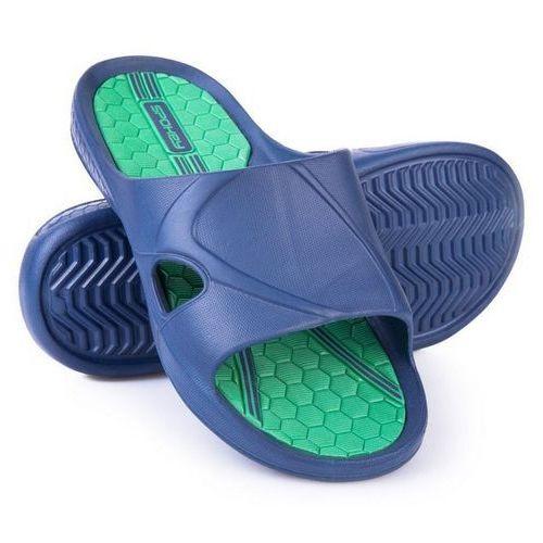 Spokey Klapki basenowe orbit granatowo-zielony (rozmiar 44)
