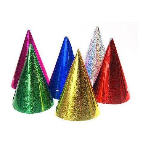 Czapeczki kolorowe holograficzne - 20 szt. marki Party deco