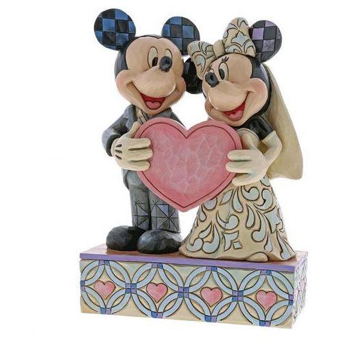 Jim shore Dwie dusze jedno serce two souls, one heart myszki (mickey mouse & minnie mouse figurine) 4059748 figurka ozdoba ślubna