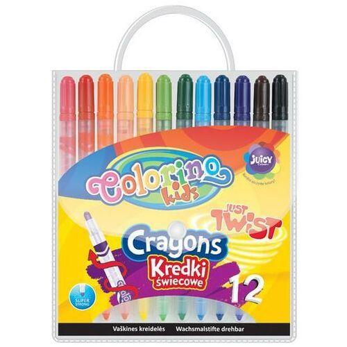 Kredki 12 kolorów świecowe wykręcane Colorino + zakładka do książki GRATIS, 14076PTR