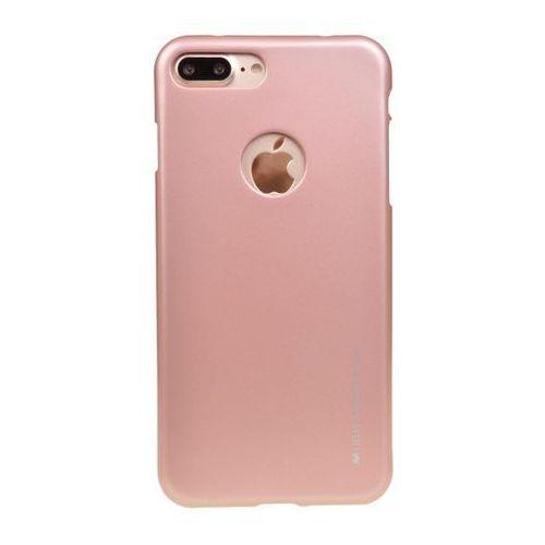 Etui nakładka goospery ijelly case do apple iphone 7 plus / iphone 8 plus różowo-złoty - różowo-złoty marki Mercury