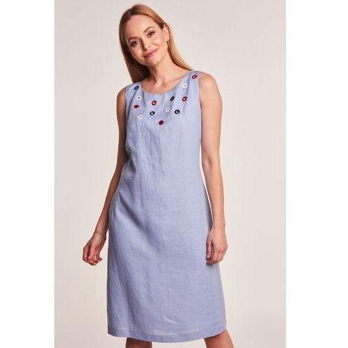 44157e9ddd Lniana sukienka niebieska marki Lea 439
