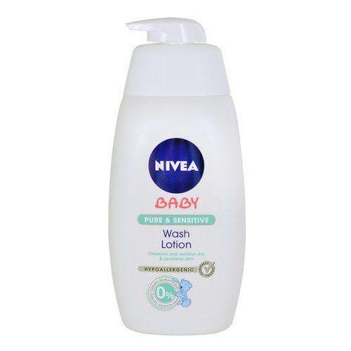 Nivea baby pure & sensitive żel do mycia do twarzy, ciała i włosów (washing lotion) 500 ml (4005808709373)