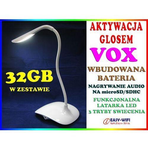 PODSŁUCH GSM W KSZTAŁCIE STOŁOWEJ LAMPKI NOCNEJ AKTYWACJA DŹWIĘKIEM VOX DYKTAFON + KARTA KINGSTON 32GB, Sklep Easy-WiFi