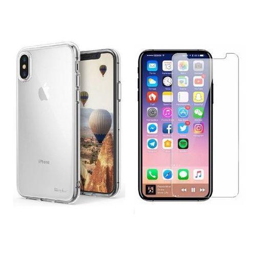 Rearth / perfect glass Zestaw | rearth ringke air crystal view | obudowa + szkło ochronne perfect glass dla modelu apple iphone x / 10