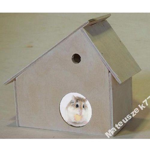 DOMEK Z DASZKIEM DLA MAŁYCH GRYZONI - 18x15x9cm - produkt z kategorii- domki i klatki dla gryzoni