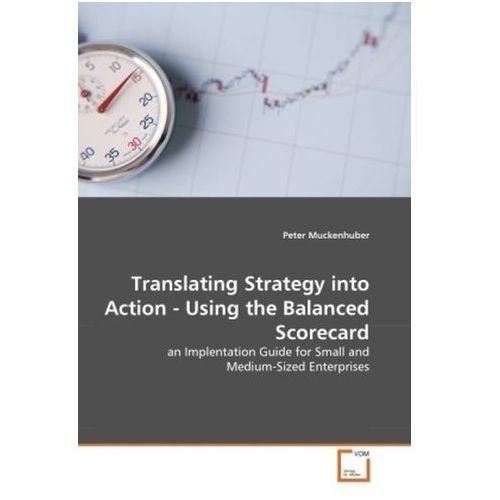 Translating Strategy into Action - Using the Balanced Scorecard (9783639311174)