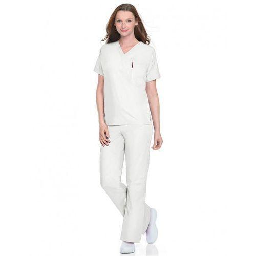 Uniwersalne (unisex) spodnie medyczne New Scrub Zone 85221 - WHITE XS (odzież medyczna)