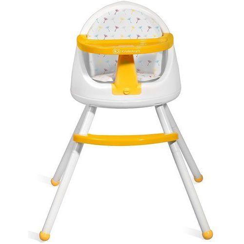 Kinderkraft Krzesełko do karmienia tutti 4 w 1 żółty + darmowy transport!
