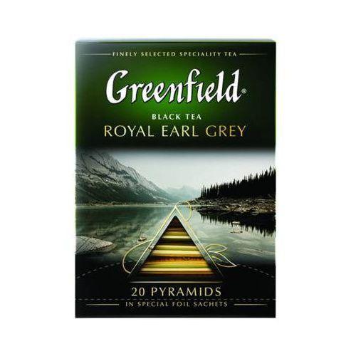 20x2g royal earl grey herbata czarna piramidki marki Greenfield