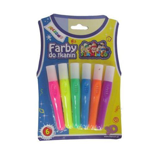 Farby do tkanin 6 kolorów Tęczowe 334705 - Titanum (5907437675236)
