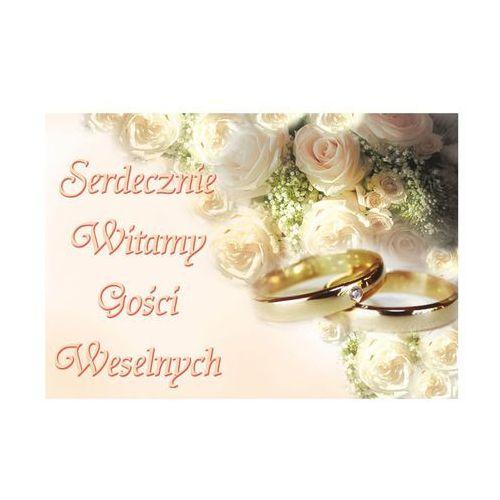 Plakat Witamy Gości Weselnych - 58 x 40 cm - 1 szt.