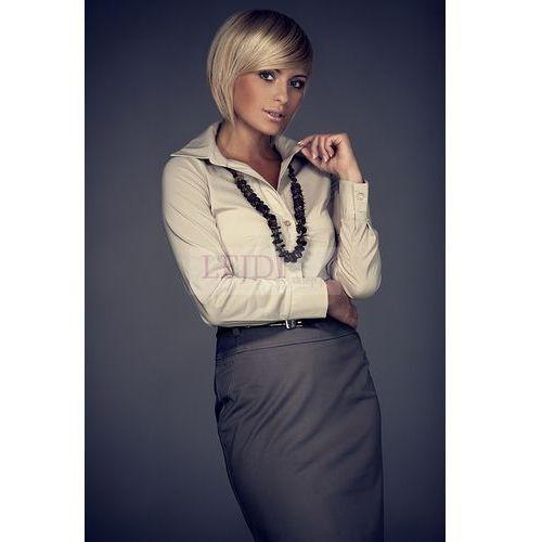 Klasyczna beżowa koszula damska m021, koszula damska Figl