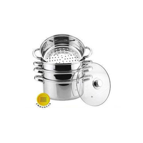 GARNKI HOFFNER DO GOTOWANIA NA PARZE 8.0L 5 ELE 18CM [HF-9185] - produkt z kategorii- garnki