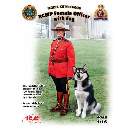 Icm 1/16 RCMP Female Officer with dog