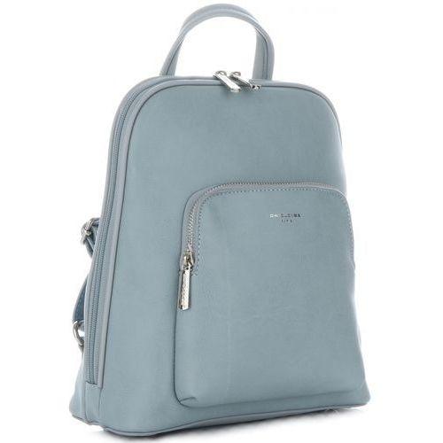 4c4b28851e515 Uniwersalne Plecaczki Damskie wykonane z wysokiej jakości skóry  ekologicznej firmy David Jones Błękitne (kolory)