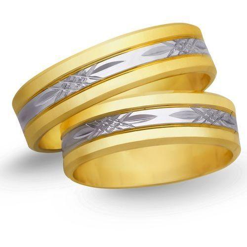Obrączki ślubne z żółtego i białego złota 6mm - o2k/046 wyprodukowany przez Świat złota