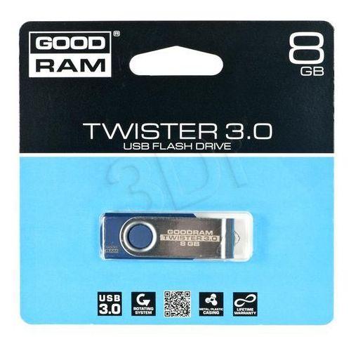 Pendrive GoodRam Twister 8GB USB 3.0 Niebieski (PD8GH3GRTSBR9) Darmowy odbiór w 15 miastach!, kup u jednego z partnerów