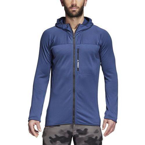 Bluza z kapturem z polaru adidas CW0794, kolor niebieski