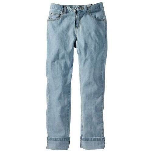 """Dżinsy """"Slim fit"""" bonprix niebieski bleached xxl - produkt dostępny w bonprix"""