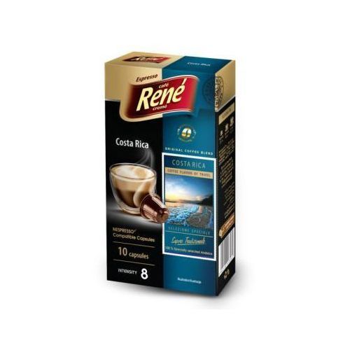 Kawa palona mielona Rene Costa Rica Espresso 50 g (10 kapsułek) (5902480013264)