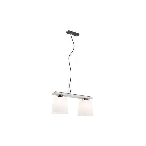 Lampa wisząca Argon Vermouth 695 drewniana z białymi kloszami zwis 2x60W E27 biała postarzana, 695