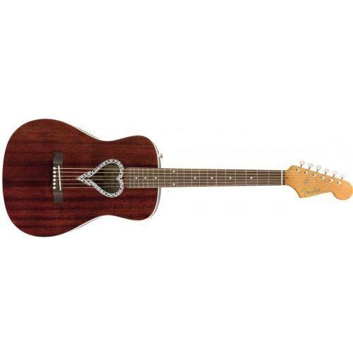 Fender alkaline trio malibu walnut fingerboard, natural gitara akustyczna