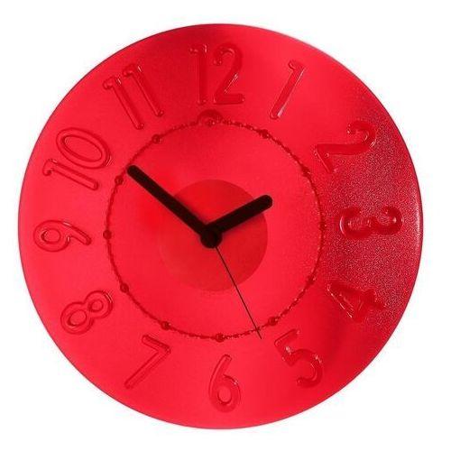 Guzzini - zegar ścienny time2go - casa - czerwony, kolor czerwony