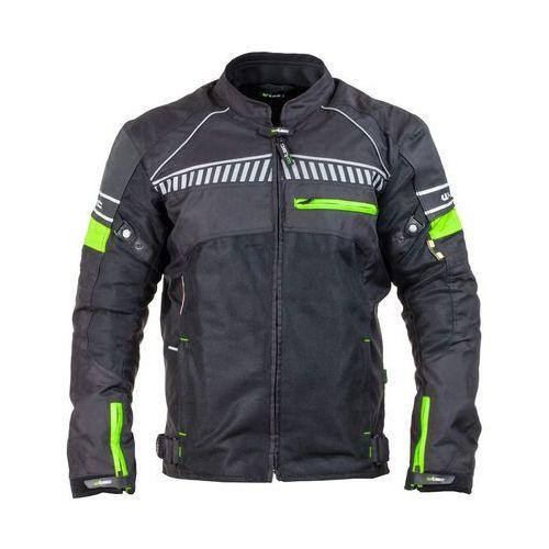 Męska kurtka motocyklowa W-TEC Meltsch NF-2301, Czarno-zielony neonowy, XL, 1 rozmiar