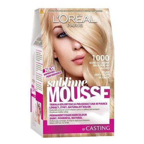 LOREAL Paris Sublime Mousse 1000 Bardzo jasny naturalny blond Farba do włosów, LOreal