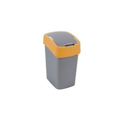 Kosz na śmieci Curver 02172-535 Flipbin 50 l szaro-pomarańczowy - sprawdź w wybranym sklepie