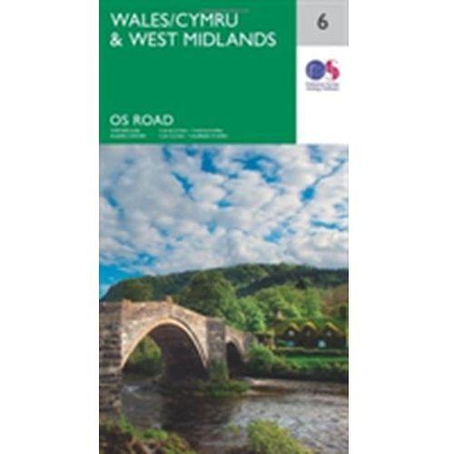 Ordnance Survey Maps Straßenkarte Wales & West Midlands