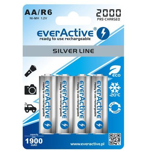4x akumulatorki everActive R6/AA Ni-MH 2000 mAh ready to use